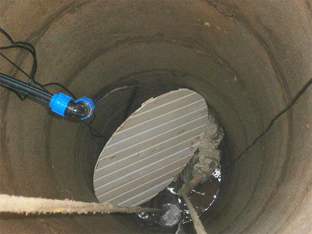 Установка донного фильтра в питьевой колодец